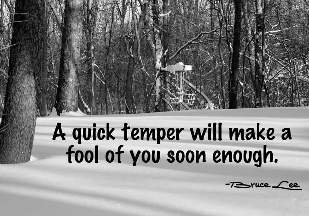 Temper picture and Bruce Lee quote