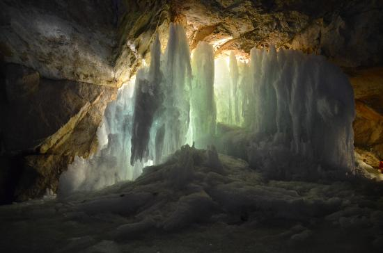 Blocked by a wall of ice, Alex saw the cave he sought.