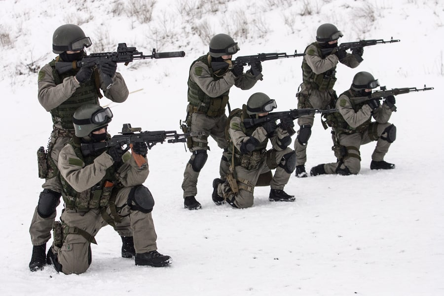Train to be an all around badass like these Russian Spetsnaz.  Or just train to be a badass disc golfer!