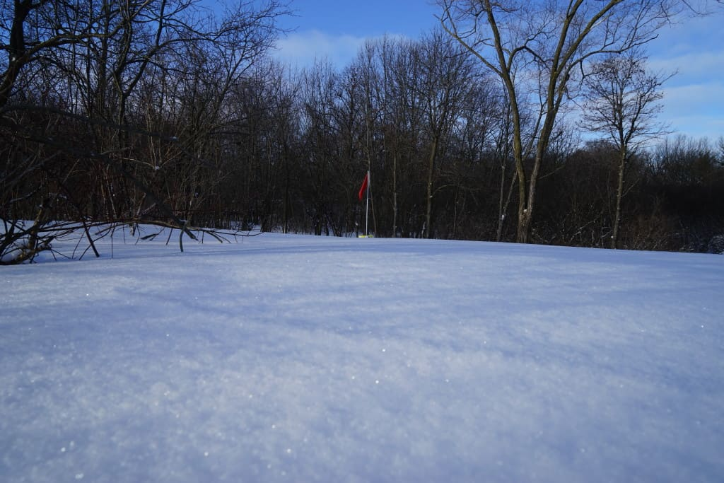 It's just not the same type of play when the course is buried in snow like this.