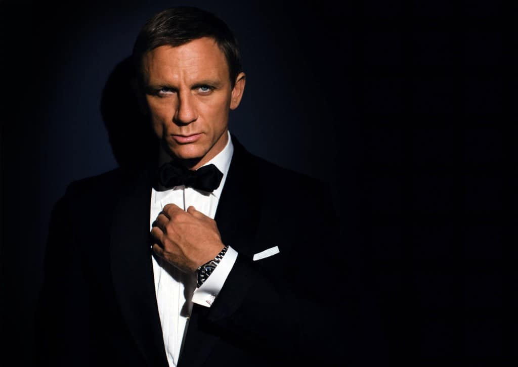 James Bond, the ultimate picture of confidence.