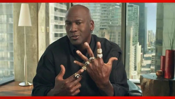 Michael Jordan with 7 rings