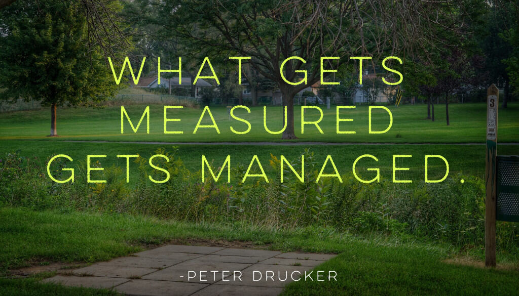 Measuring disc golf improvement - What gets measured gets managed