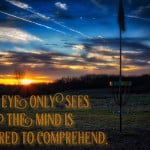 Wisdom Wednesday | The Eye Sees Only What the Mind is Prepared to Comprehend
