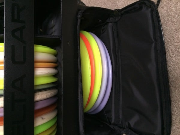 Delta Ten disc golf cart bottom compartment