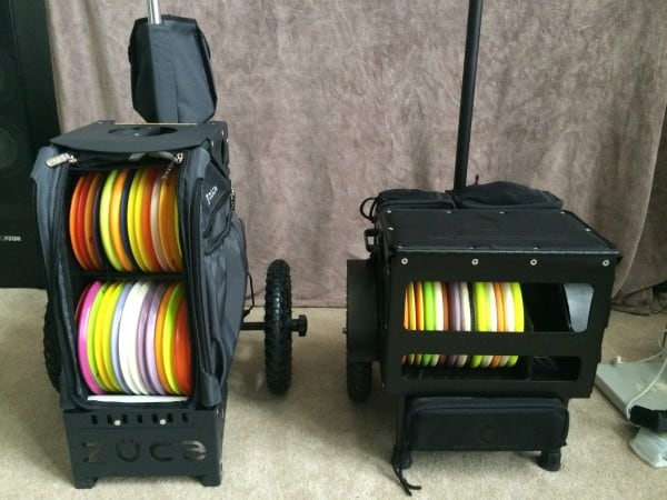 Delta Ten disc golf cart and Ridge Roller